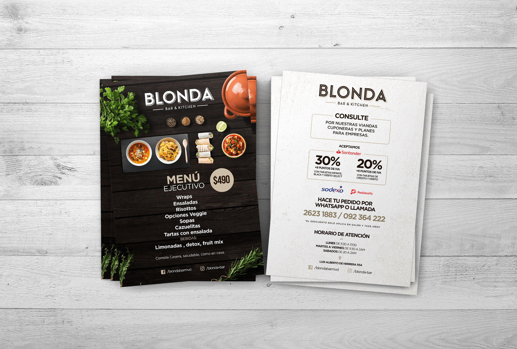 Blonda Bar - Flyer 2